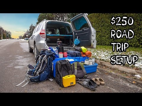 Super Cheap Road Trip Setup! | Budget Travel