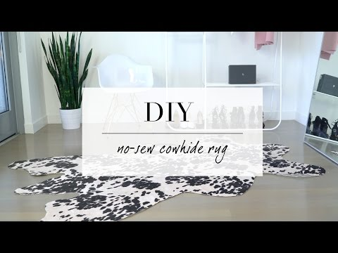 DIY Cowhide inspired Rug | Home Decor | ANN LE