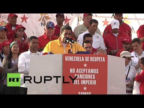 """Venezuela: Maduro blasts """"insolent imperialist Yankees"""""""