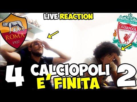 4-2 CALCIOPOLI È FINITA.. Roma-Liverpool [LIVE REACTION]