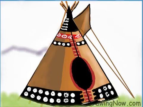 How To Draw A Native American Teepee
