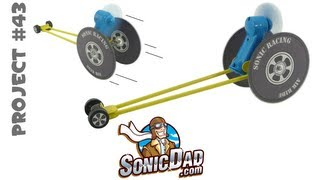 Make a Race Car from Old CDs - SonicDad Project #43 (Sonic Air Racer)