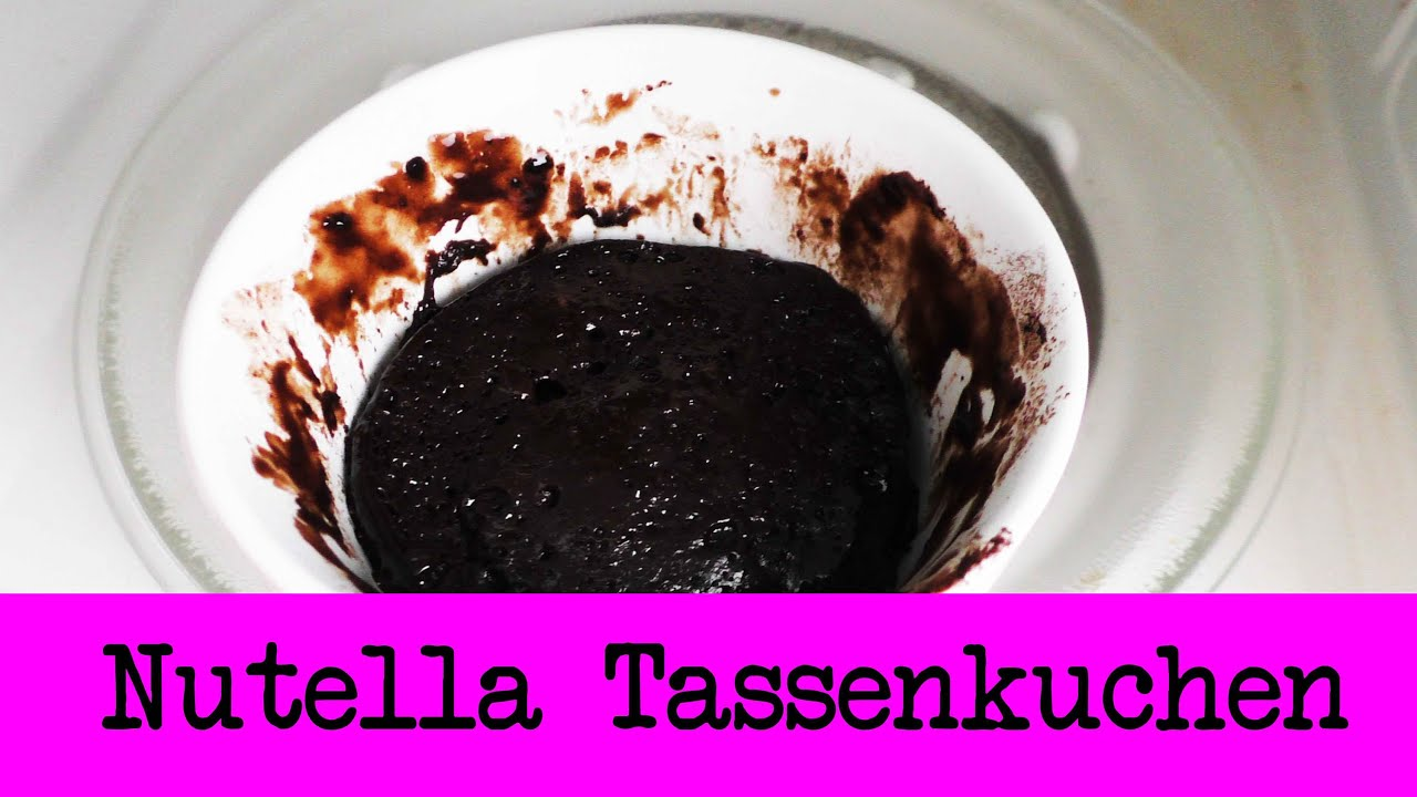 Nutella Tassen Kuchen Nur 3 Zutaten Super Einfacher