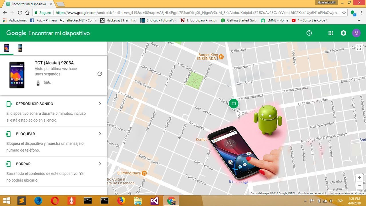 localizar celular no google play