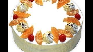 Recipe - Fresh Fruit Cake Recipe With English Subtitles