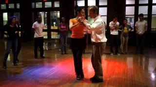 Dartmouth Fall 2014 Introductory Tango Class #5 - Didactic Demo (Ochos)