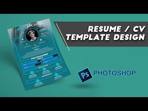 Resume / CV Design Photoshop