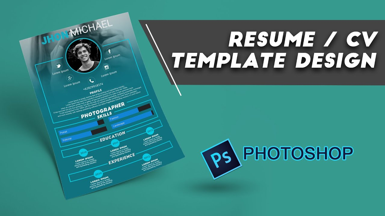 resume    cv design photoshop