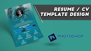 Resume / CV Design Photoshop