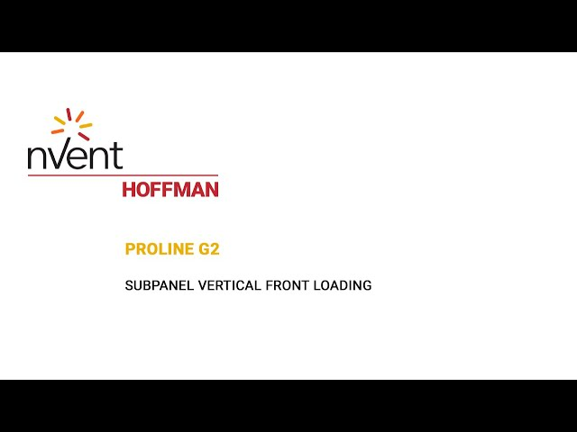 ProLine G2 Installation Video – Vertical Front Loading | nVent HOFFMAN