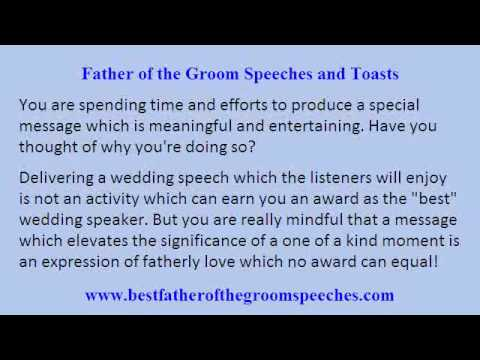 Father Of Groom Wedding Speech Guidelines