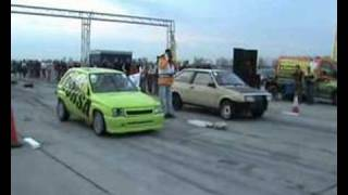 Lada Samara [Street Samar] Vs. Opel Corsa GSI Drag Race