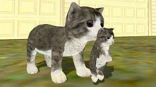 СИМУЛЯТОР Маленького КОТЕНКА #12 Кошка выросла победила собаку мультяшная игра для детей #ПУРУМЧАТА