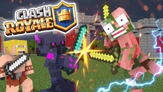 Monster School: Clash Royale Challenge - Minecraft Animation
