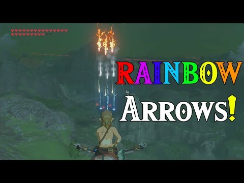 RAINBOW Arrows! During a Blood Moon and a Bomb! in Zelda Breath of the Wild