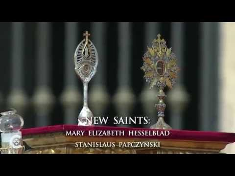 Pope canonizes new saints