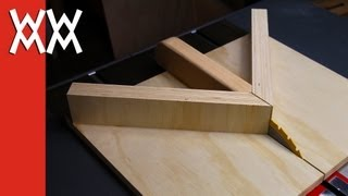 Make A Miter Sled For Your Table Saw. Improved Version.