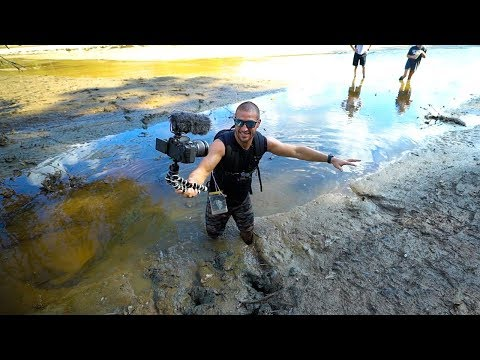 Treasure Hunting: Searching A Drained Lake!! (Deep Mud)