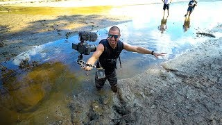 Treasure Hunting: Searching A Drained Lake!! (Deep Mud) thumbnail