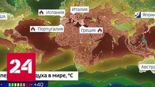 Планету бросает в жар: Европа и США не справляются с пожарами - Россия 24