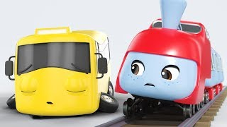 The Sleepy Train | Go Buster by Little Baby Bum | Vehicles and Trains | Kids Cartoons