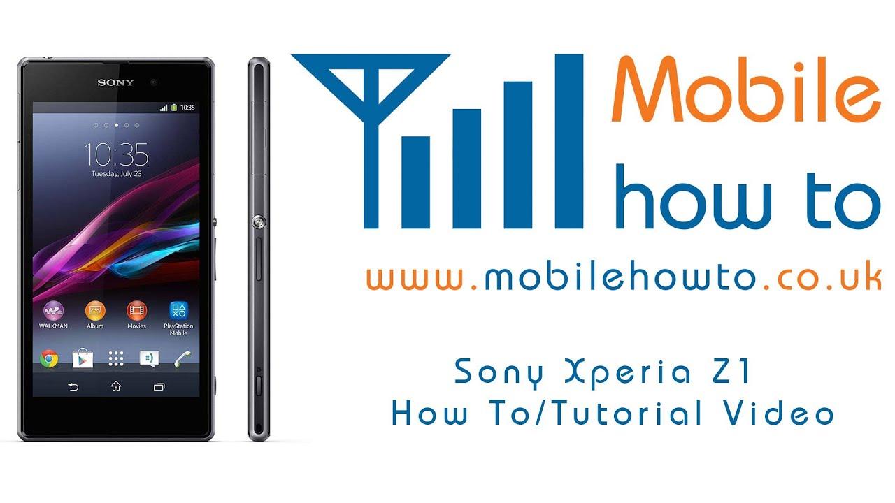 Delete A Contact  Sony Xperia Z1