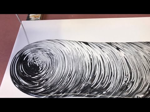 Fluid Painting Acrylic Pouring Super Easy Black And White Only