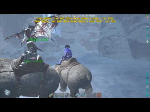 ARK  Survival Evolved Snow Cave with Dire Bear