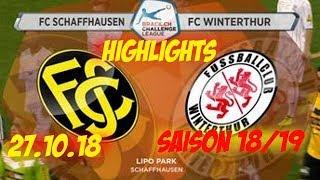 Highlights: Fc Schaffhausen vs Fc Winterthur (27.10.18)
