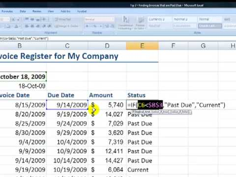 Use COUNTIF and SUMIF to Identify and Total Past Due Invoice Amounts in Excel
