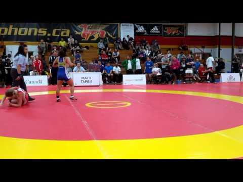 2015 Canada Cup: 53 kg Jade Papke (CAN) vs. Miyuu Yamamoto (JPN)