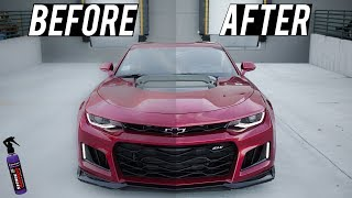 How to apply Shine Armor so that IT WORKS: 2018 ZL1 Camaro BEFORE and AFTER!!