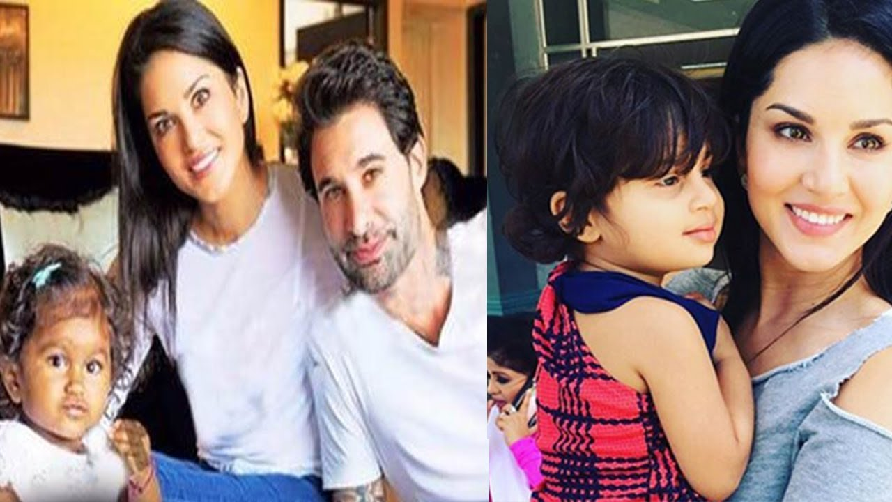 Sunny leone daughter viral l nisha kaur weber first photo for Nisha bano husband name