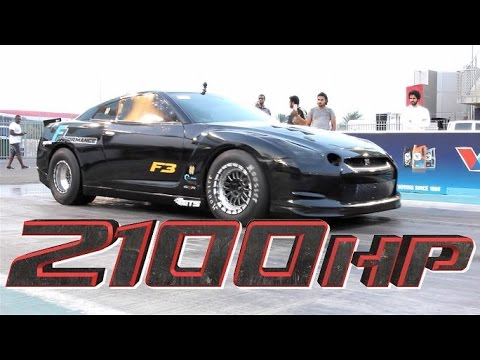 2100HP Nissan GTR - UAE's Fastest by F Performance!