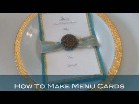 Diy How To Make Menu Cards Youtube