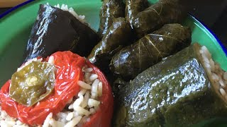 Stuffed vegetables, dolma and stuffed vine leaves, sarma