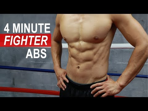 Get FIGHTER ABS In 4 Mins (In-Home Core Workout)