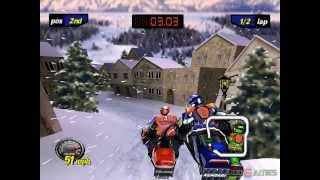 Polaris SnoCross - Gameplay PSX / PS1 / PS One / HD 720P (Epsxe)