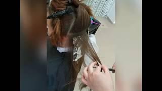 Процесс мелирования с тонированием от мастера Натальи Гаврилюк салон красоты LaFamilia salon Бровары