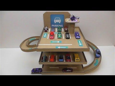 Парковка для машинок из картона своими руками Youtube