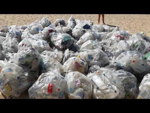 Manly  Beach Sydney  Australia.One time plastic usage.
