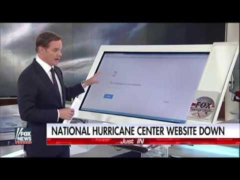 National Hurricane Center website down
