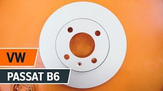 Kuinka vaihtaa taka jarrulevyt, taka jarrupalat VW PASSAT B6 -merkkiseen autoon OHJEVIDEO | AUTODOC