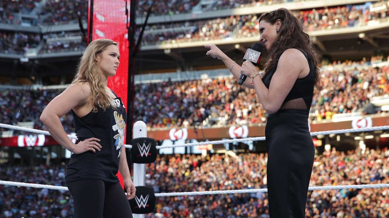 Image result for stephanie mcmahon and ronda rousey
