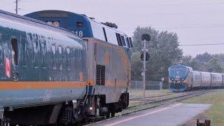 VIA Trains At Drummondville 27-28 June 2015