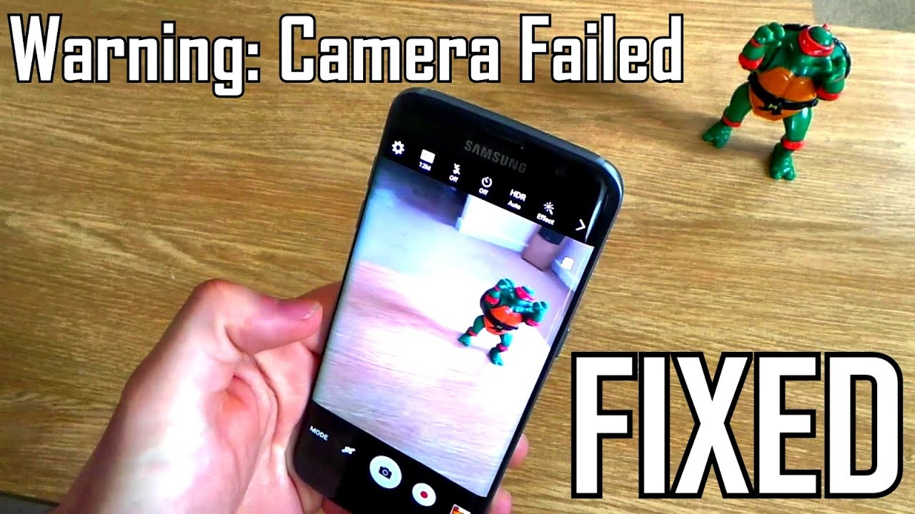 Samsung Galaxy S7/ Edge / S6 / S5 Warning: Camera Failed FIXED  Simple  steps showing how to do this