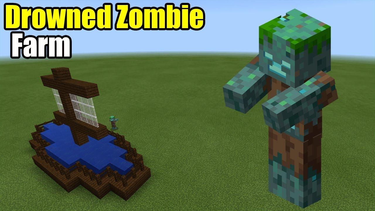 Drowned Zombie Farm | Minecraft PE