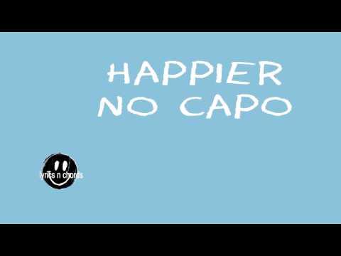 happier ed sheeran lyrics n chords