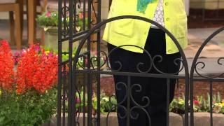 Plow & Hearth Iron Montebello Garden Arbor With Gate With Kerstin Lindquist
