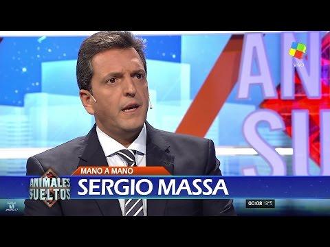 """Sergio Massa en """"Animales sueltos"""" de A.Fantino (completo HD) - 16/03/17"""